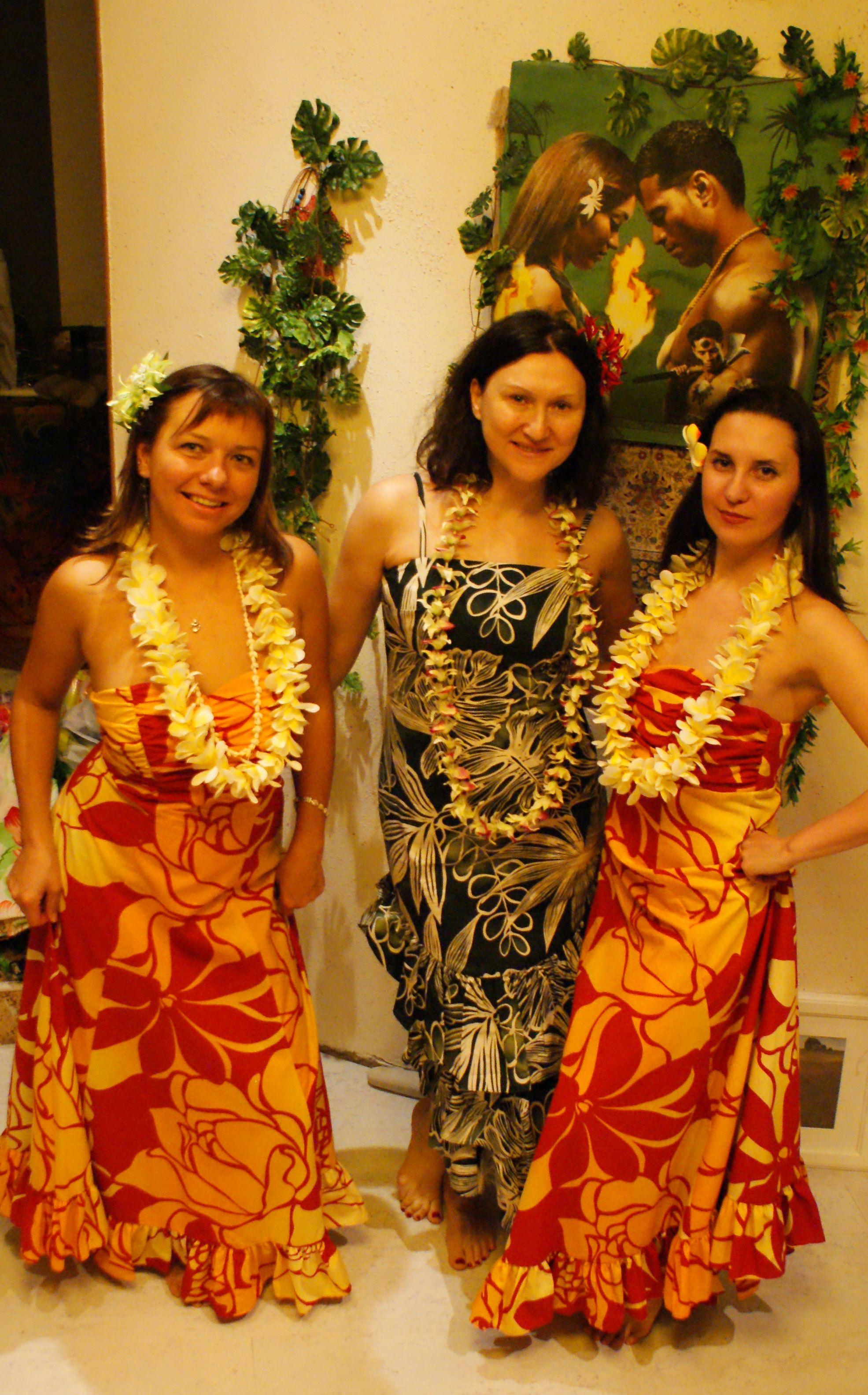 Платья В Гавайском Стиле Фото